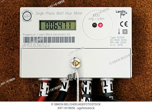 Electricity Meter, Close Up