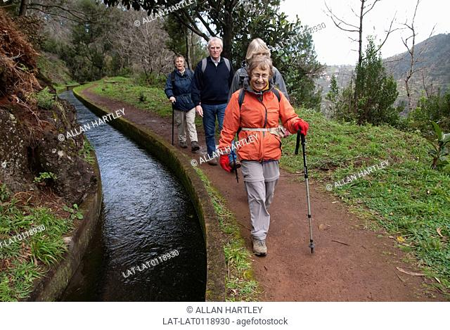 The interior of the island of Madeira has very deep valleys or gorges,and a 16th century system of Levadas - irrigation canals that traverse the hills and...