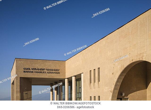 Armenia, Yerevan, Maison Charles Aznavour, foundation started by famous French-Armenian singer, exterior