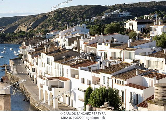 The fishing village of Cadaques is one of the main tourist destinations of the Costa Brava in the province of Gerona in Catalonia Spain