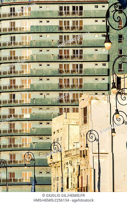 Cuba, Havana, Malecon, Habana Centro district