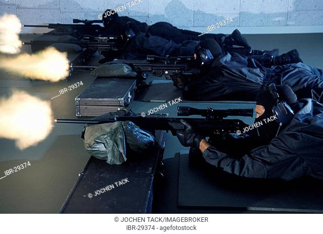 DEU, Germany: Sniper. Police SWAT Team, for arresting armed and dangerous criminals. They are specialists for rescuing hostages