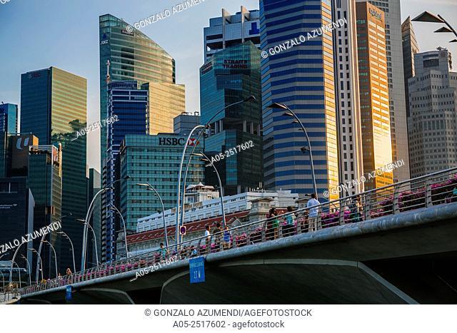 Central Business District. Singapore City Skyline. Singapore. Asia