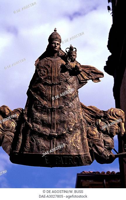 Madonna Lauretana (Our Lady of Loreto), ca 1630, iron sign, Cremona, Lombardy. Italy, 17th century