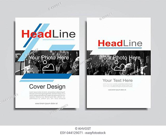 Brochure design layout with place for your data. Vector illustration