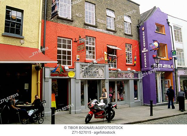 Temple Bar, street scene. Dublin. Ireland