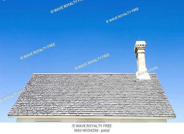 Roof of old house, Manitoba, Canada