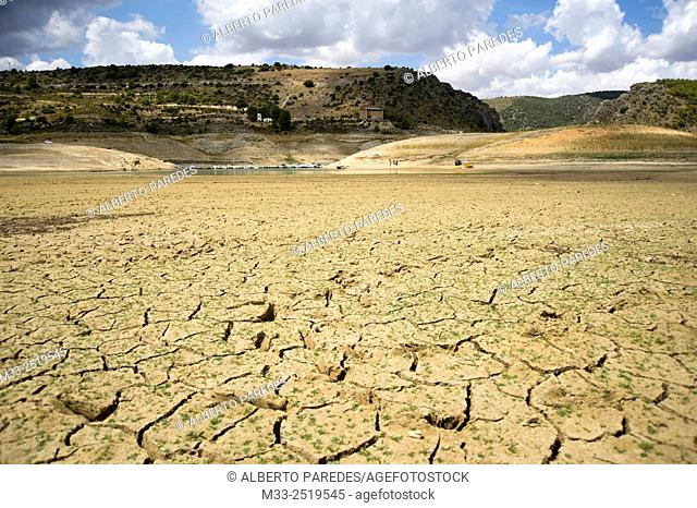Drought in Entrepeñas Reservoir, Guadalajara province, Spain