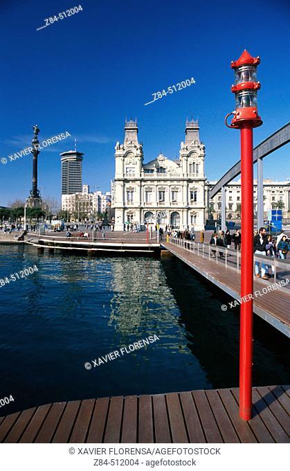 Rambla de Mar, Port Vell. Barcelona. Spain