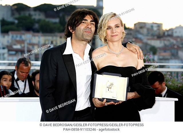 Diane Kruger with the award for best actress for her part in the movie 'In The Fade / Aus dem Nichts' at the award winner photocall during the 70th Cannes Film...