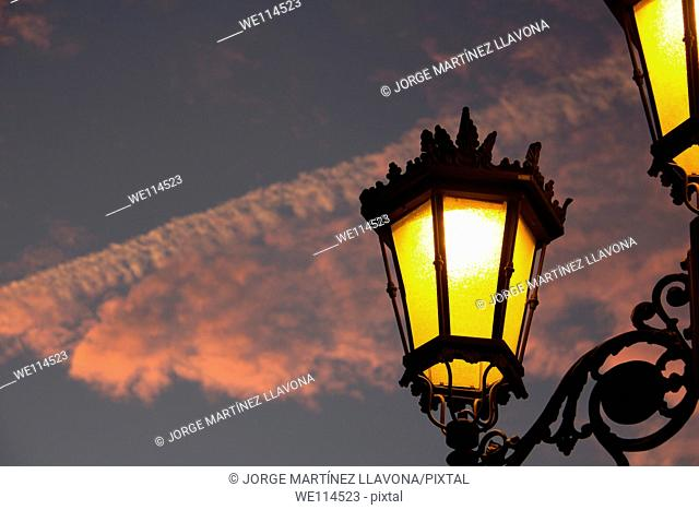 Streetlights and sky