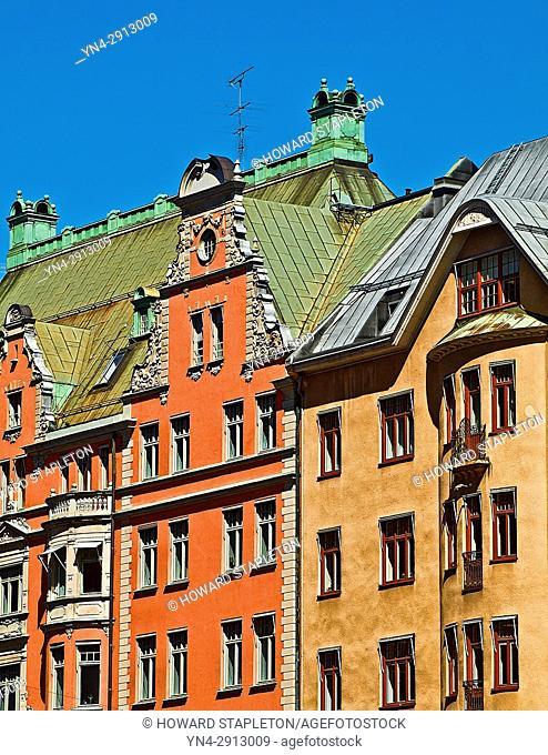 Houses in Stockholm, Sweden