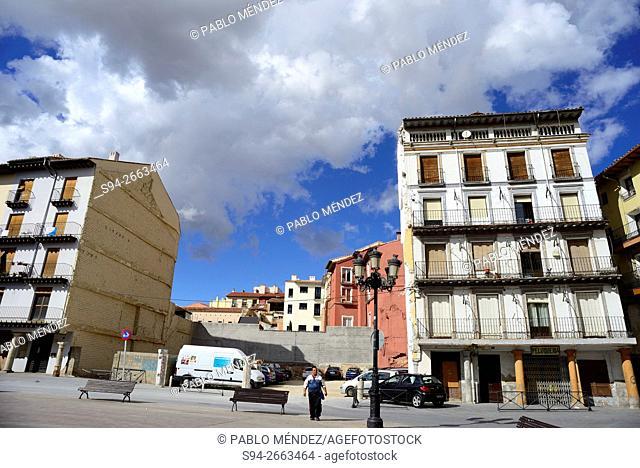 Main square of Calatayud, Zaragoza, Spain