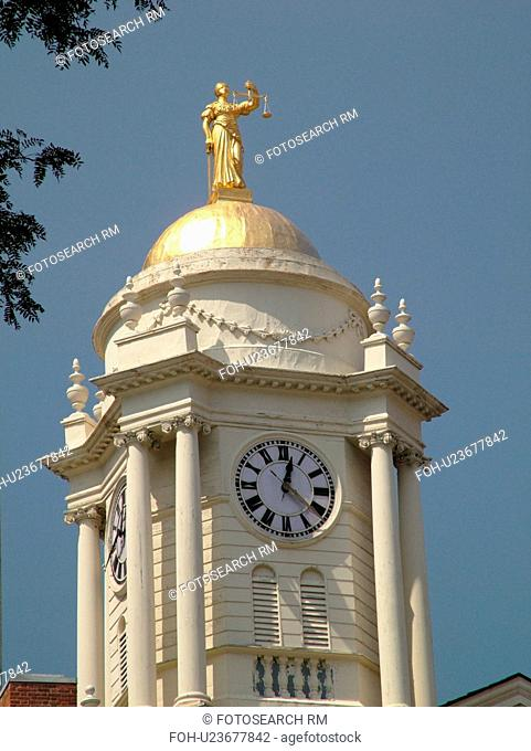 Hartford, CT, Connecticut, downtown, Old State House, clock tower