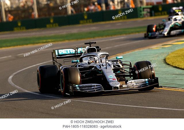 Motorsports: FIA Formula One World Championship 2019, Grand Prix of Australia, .#44 Lewis Hamilton (GBR, Mercedes AMG Petronas Motorsport),   usage worldwide