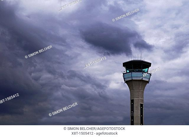 Control Tower at London Luton Airport, UK