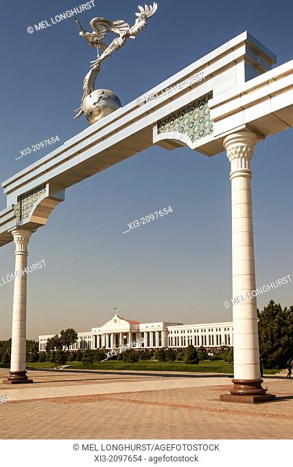 Senate of the Republic of Uzbekistan and Ezgulik Independence Arch, Independence Square, Tashkent, Uzbekistan