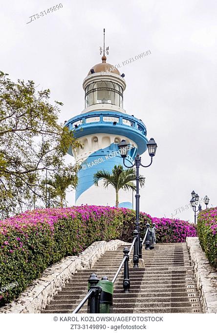Stairway up the Santa Ana Hill, Las Penas Neighbourhood, Guayaquil, Guayas Province, Ecuador