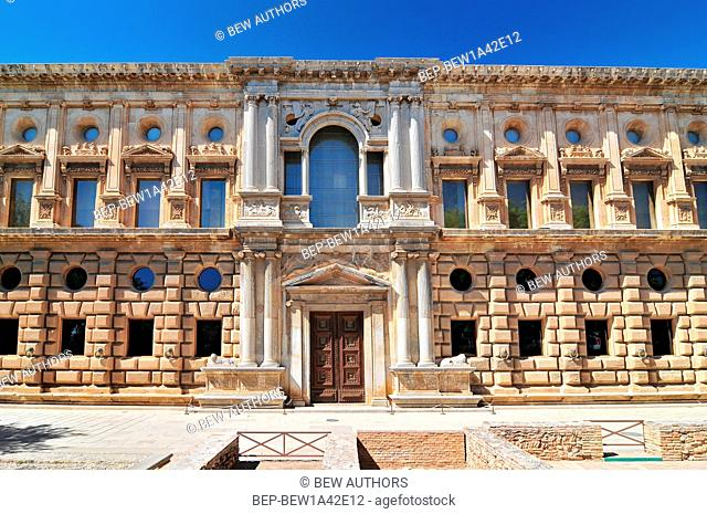 Palace of Charles V. Alhambra, Granada. Andalusia, Spain