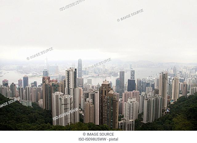 Hong kong, hong kong island, skyscrapers of central district