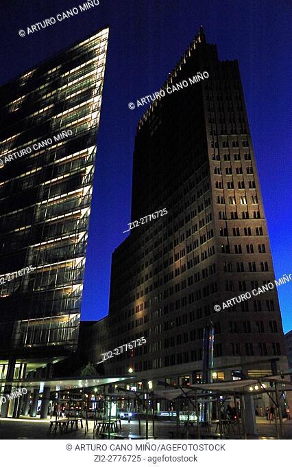 Kollhoff-Tower and Forum Tower at Potsdamer Platz. Berlin, Germany