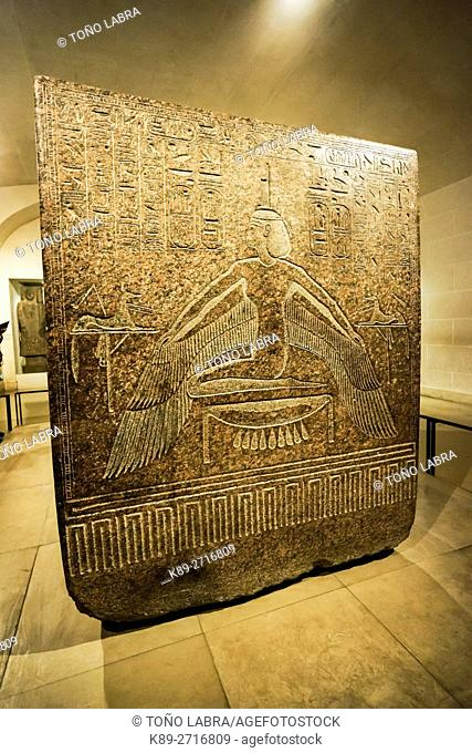 sarcophagus of Ramses III. Egyptian Pharaonic collection. Louvre Museum. Paris. France