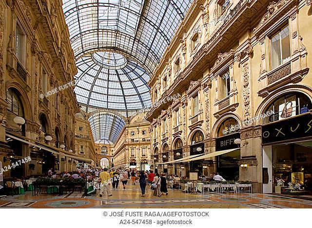 Galleria Vittorio Emanuele II. Milan. Lombardy. Italy