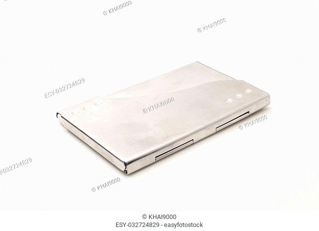 Business card holder for businessman. Focussed on the closes distance