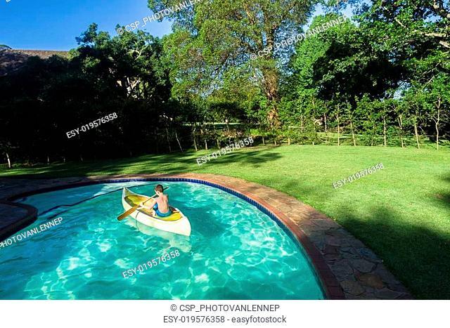 Boy Canoe Pool