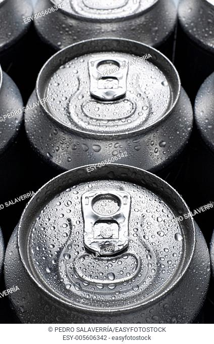 group of an aluminum can of soda