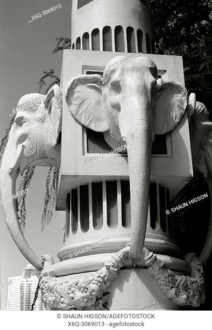 Elephant Head Bridge in Bangkok in Thailand in Southeast Asia Far East