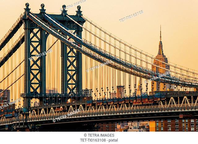 Manhattan Bridge with Empire State Building