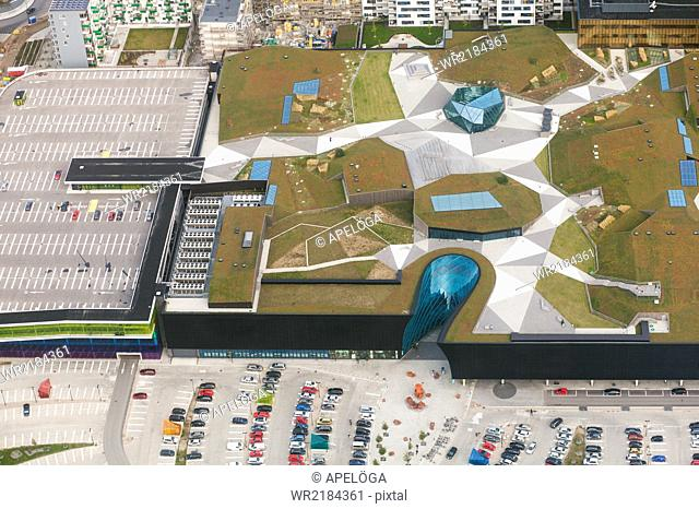 Aerial view of city model