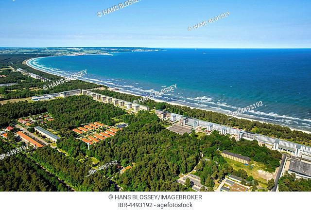 Colossus of Prora, the longest building in the world, Bad Prora, Binz, Rügen Island, Baltic coast, Mecklenburg-Western Pomerania, Germany