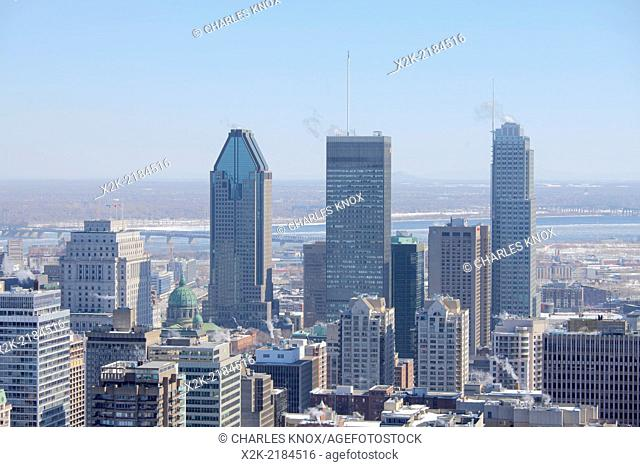 Montreal cityscape in daylight, Montreal, Quebec, Canada