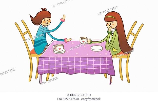 Boy and Girl in café