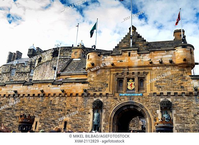 Edinburgh Castle. Scotland, UK, Europe