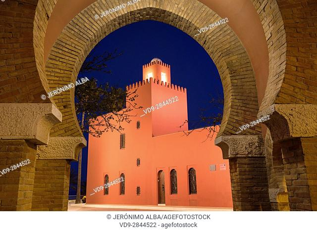 Bil-Bil castle built in neo-Arab style in 1934, Benalmadena. Malaga province Costa del Sol. Andalusia Southern Spain, Europe