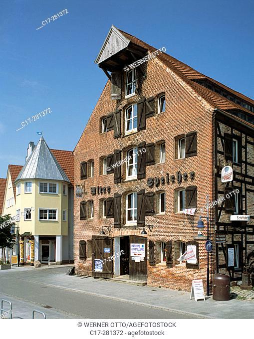 Alter Speicher (historic granary), Wolgast, Mecklenburg-Western Pomerania, Germany