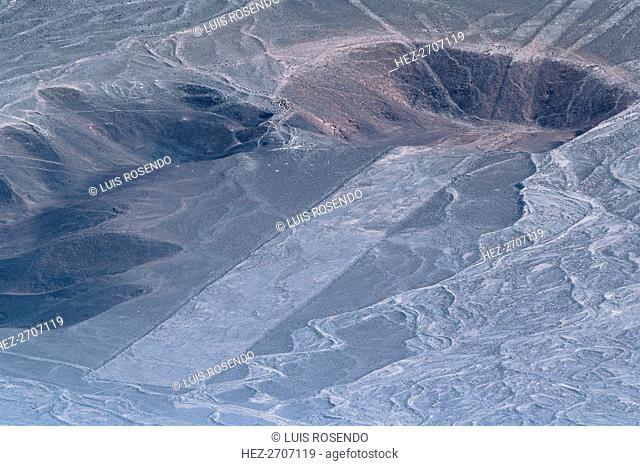Line Design, Nazca Lines, Ica, Peru, 2015. Creator: Luis Rosendo