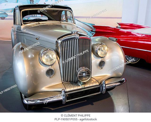 1948 Bentley MK VI, British 4-door standard steel sports saloon classic car at Autoworld, vintage automobile museum in Brussels, Belgium