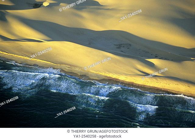 Aerial view of Namib-Naukluft National Park coast, Namibia, Africa