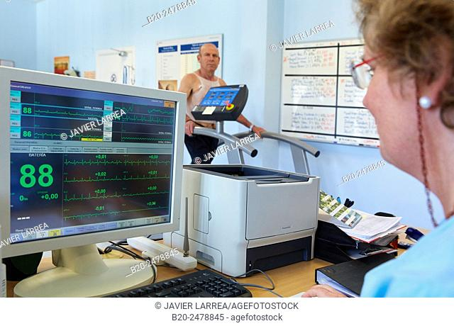 Cardiac rehabilitation, Hospital Donostia, San Sebastian, Gipuzkoa, Basque Country, Spain