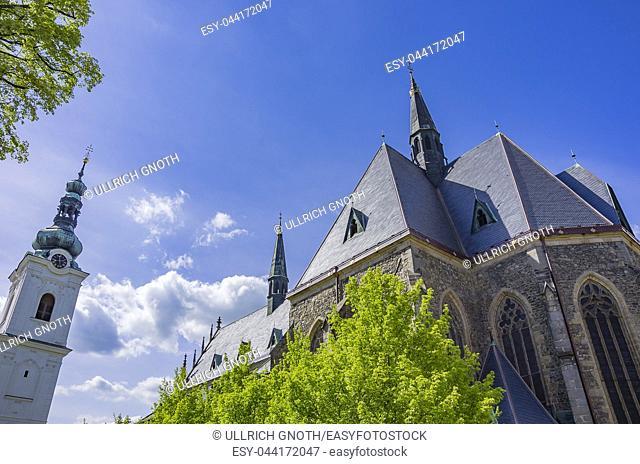Klatovy, Czech Republic - Archdean parish church of the Nativity of Virgin Mary. Klattau (Klatovy), Tschechische Republik - Stadtpfarrkirche Mariä Geburt der...