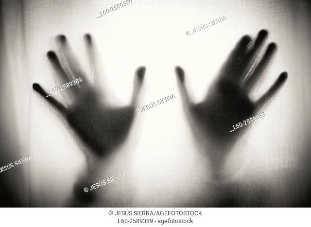 Blurry hands