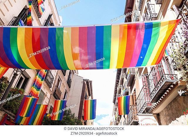 Gay pride festival in Chueca district. Madrid. Spain
