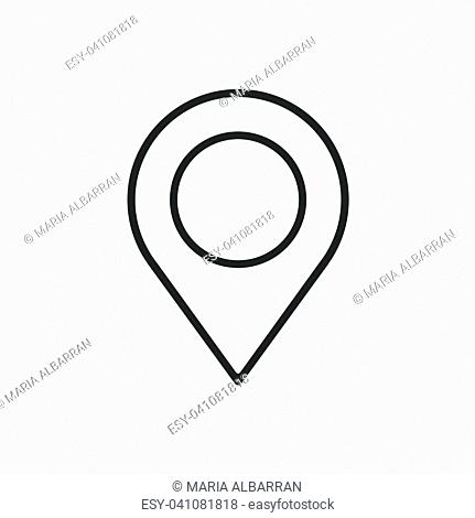 Location line icon on a white background. Vector illustration