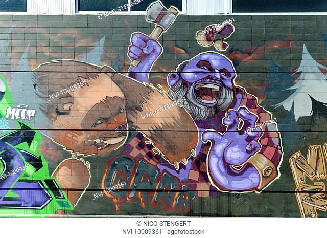 Graffiti, Santa Cruz, Tenerife, Canary Islands, Spain, Europe