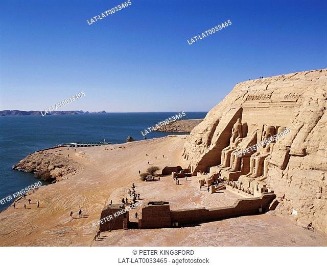 Abu Simbel is an archaeological site comprising two massive rock temples.The UNESCO World Heritage Site known as the Nubian Monuments or The twin temples were...