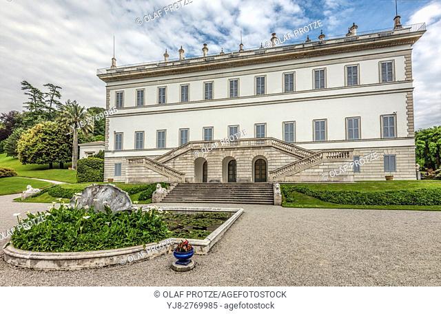 Main Building of Villa Melzi D Eril in Bellagio at Lake Como, Italy
